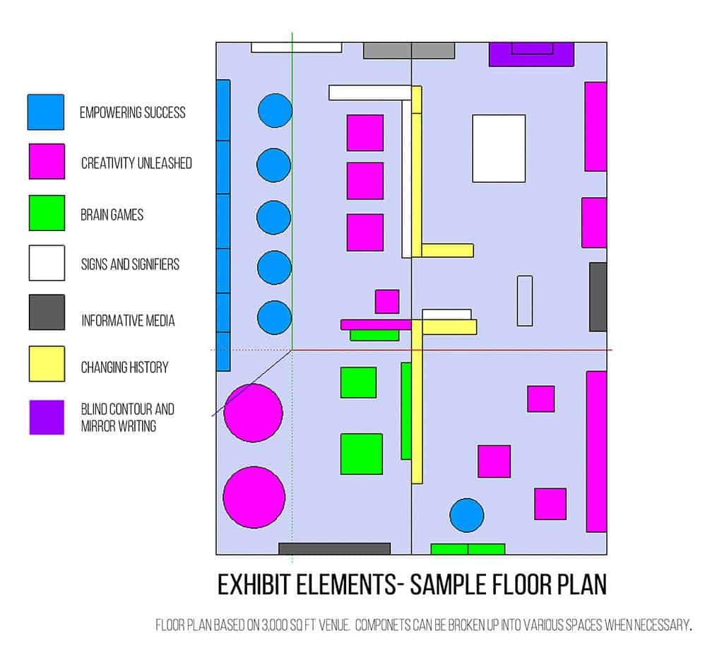 Whiteboard Exhibits Beautiful Minds floor plan