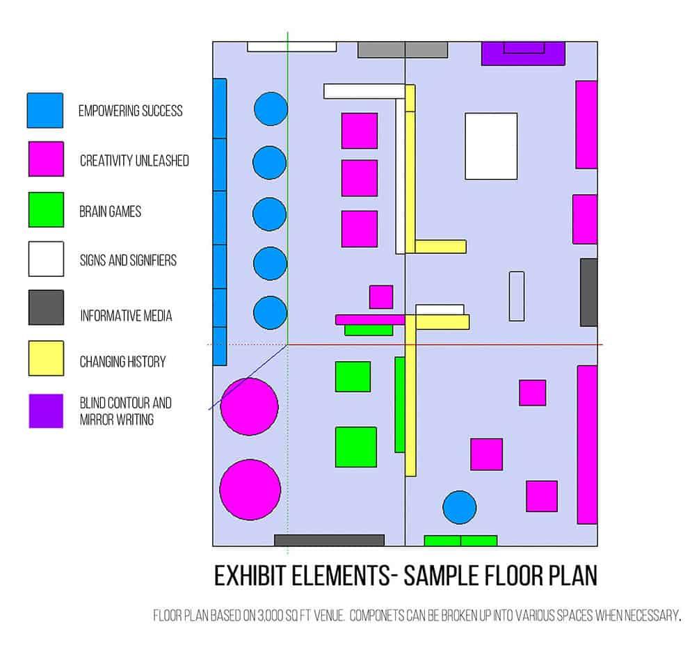 Whiteboard Exhibits Beautiful Minds floor plan