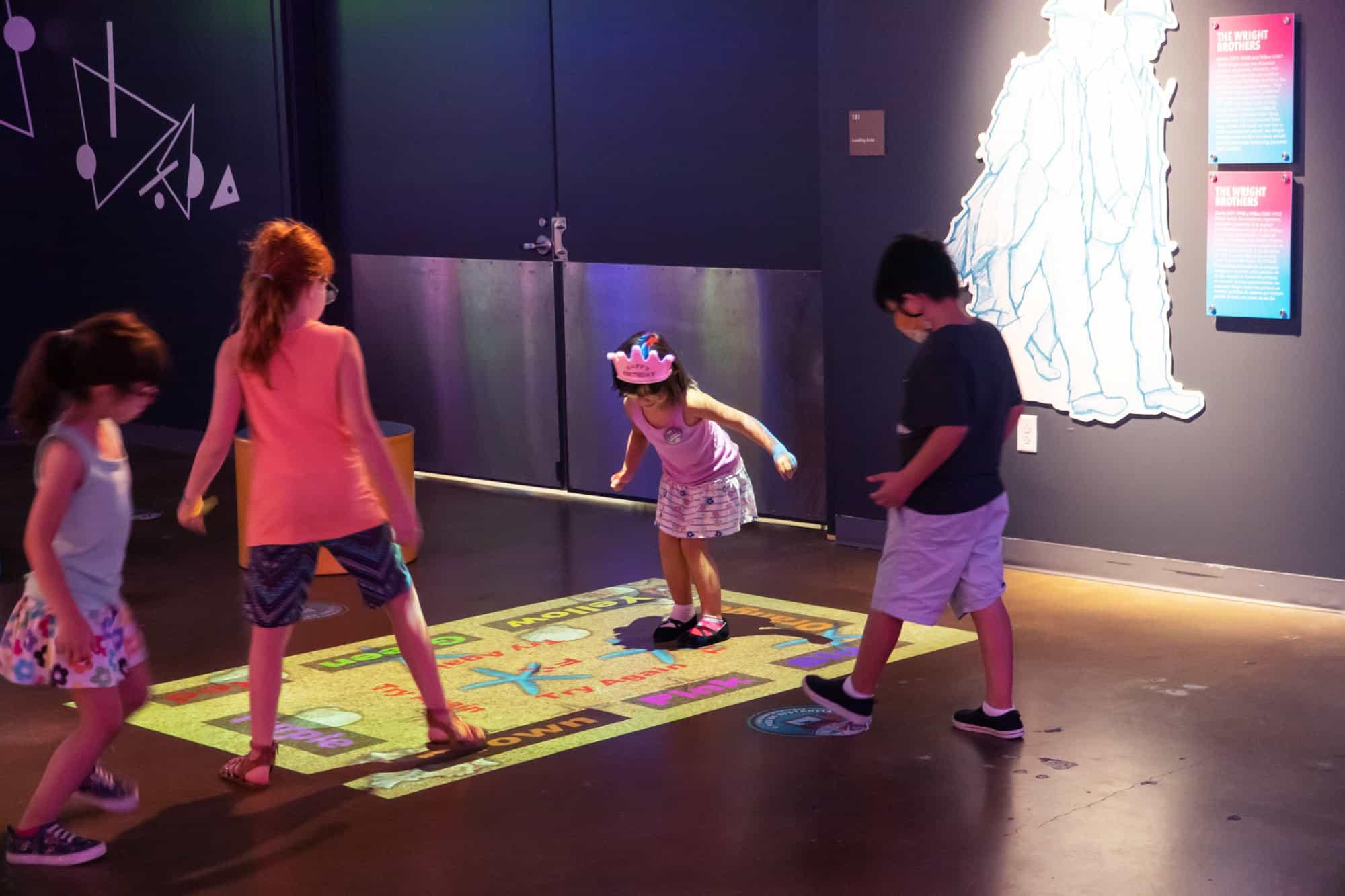 Whiteboard Exhibits floor games san